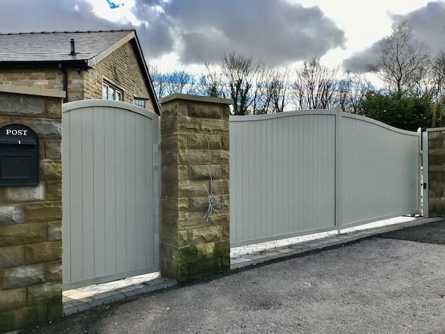 classic range grey double leaf gates